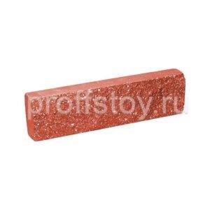 Плитка облицовочная, красного цвета, 250x65x30 мм