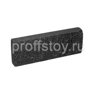 Плитка облицовочная черного цвета, 250x88x30 мм
