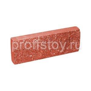 Плитка облицовочная, красного цвета, 250x88x30 мм
