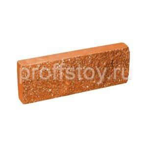 Плитка облицовочная, персикового цвета, 250x88x30 мм