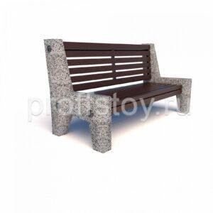 Скамейка бетонная Евро 7