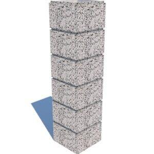 Столбовой бетонный блок  300х300×200 мм