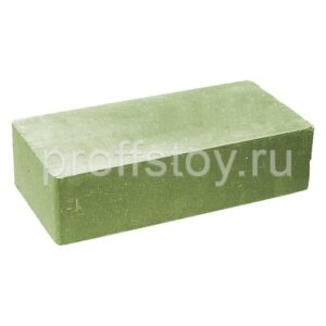 Кирпич облицовочный полнотелый одинарный гладкий, цвет зеленый, размер 250х120х65 мм