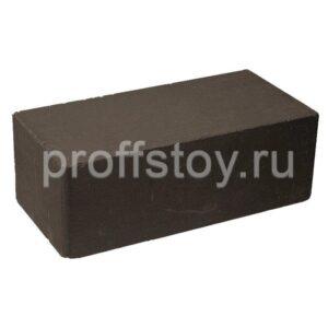 Кирпич облицовочный полнотелый гладкий, шоколадного цвета, размер 250х120х88 мм