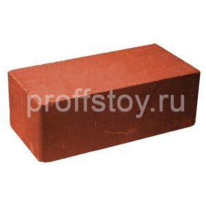 Кирпич облицовочный полнотелый, гладкий, красного цвета, размер 250х120х88 мм