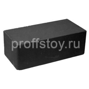 Кирпич облицовочный полнотелый, гладкий, черного цвета, размер 250х120х88 мм.