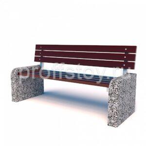 Диван бетонный парковый