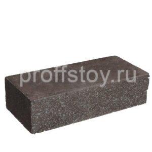 Кирпич облицовочный полнотелый ложковый, шоколадного цвета, колотый, размер 250х100х65 мм