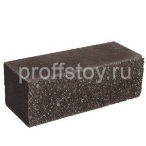 Кирпич полнотелый облицовочный ложковый, шоколадного цвета, колотый, размер 250х100х88 мм
