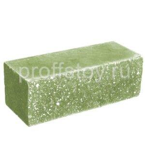 Кирпич облицовочный полнотелый полуторный ложковый, колотый, цвет зеленый, размер 250х100х88 мм