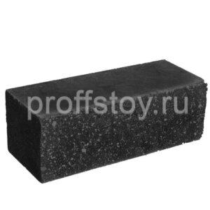 Кирпич облицовочный полнотелый, ложковый, колотый, черного цвета, размер 250х100х88 мм