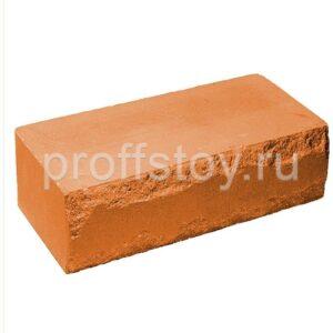 Кирпич облицовочный полнотелый, ложковый, скол луч, персикового цвета, размер 250х115х88 мм