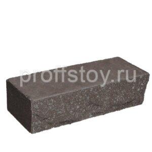 Кирпич облицовочный полнотелый ложковый, шоколадного цвета, скол скала, размер 250х90х65 мм
