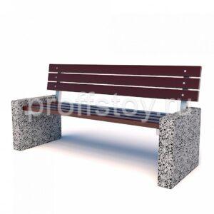 Скамейка бетонная парковая 2