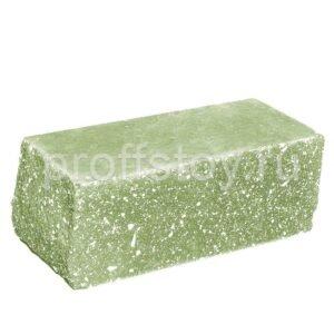 Кирпич облицовочный полнотелый полуторный угловой, колотый, цвет зеленый, размер 225х100х88 мм